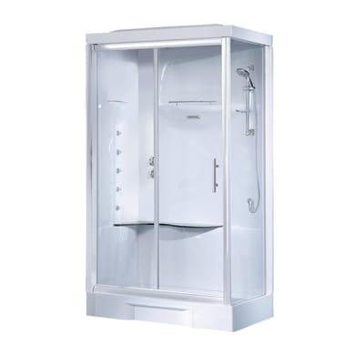 Cabina doccia idromassaggio rettangolare CAYENNE 70 x 90 cm