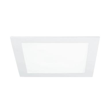 Faretto fisso da incasso quadrato Slim in alluminio, bianco, LED integrato 18W 1400LM IP20