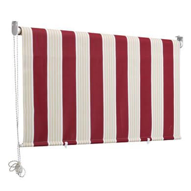 Tenda da sole a caduta con rullo 2 x 2.5 m rosso