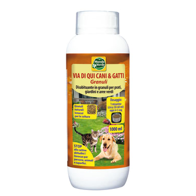 Repellente liquido per cani e gatti granulare Via di qui 1000