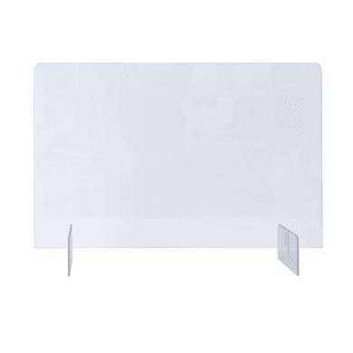 Schermo di protezione polistirene trasparente 80 cm x 50 cm, Sp 5 mm