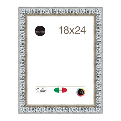 Cornice INSPIRE Baroque argento per foto da 18x24 cm