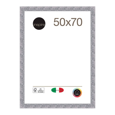 Cornice INSPIRE Mosaico argento per foto da 50x70 cm