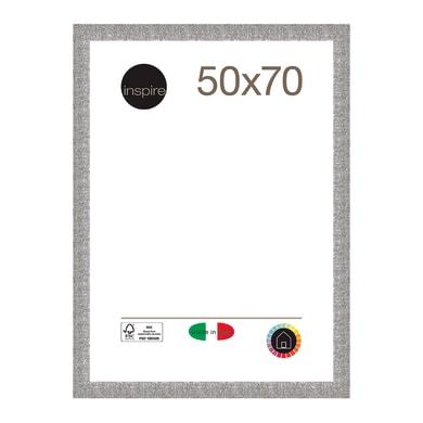 Cornice INSPIRE Iride argento per foto da 50x70 cm