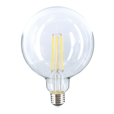 Lampadina LED filamento, E27, Globo, Trasparente, Luce calda, 10W=1520LM (equiv 10 W), 360°