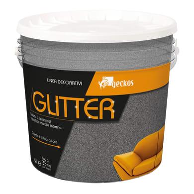 Pittura decorativa GECKOS Glitter 4 l grigio scuro glitterato
