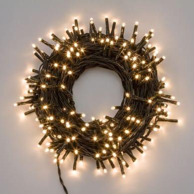 Catena luminosa 1000 lampadine bianco caldo Mini led 70.4 m