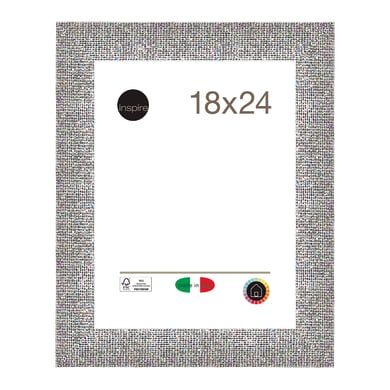 Cornice INSPIRE Iride argento per foto da 18x24 cm