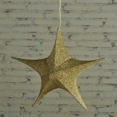 Figura natalizia giallo / dorato H 40 cm