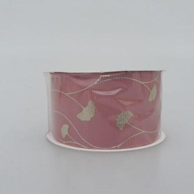 Decorazione per albero di natale in tessuto rosa oroL 3.5 cm
