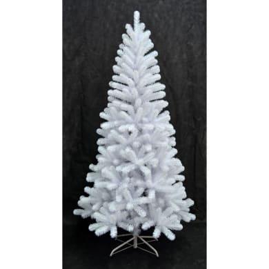 Albero di natale artificiale bianco H 210 cm,