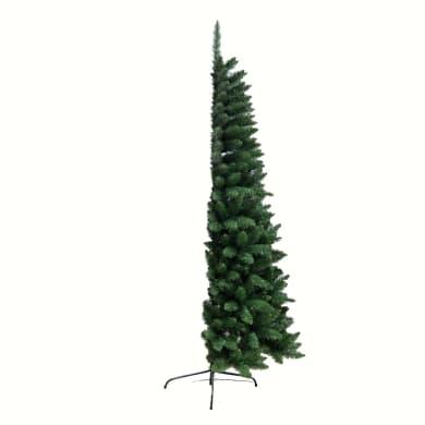Albero di natale artificiale verde H 210 cm,