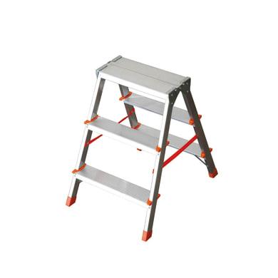 Scala doppia FACAL in alluminio 3+3 gradini per lavori fino a 2.3 m