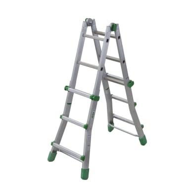 Scala doppia FACAL in alluminio 3+3 gradini per lavori fino a 3.8 m