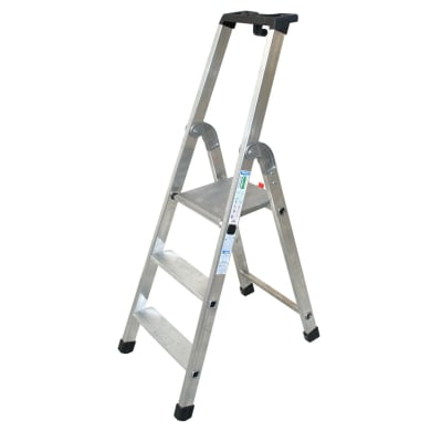 Scala doppia FACAL in alluminio 3 gradini per lavori fino a 2.45 m