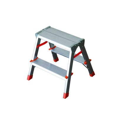 Scala doppia FACAL in alluminio 2+2 gradini per lavori fino a 2.07 m