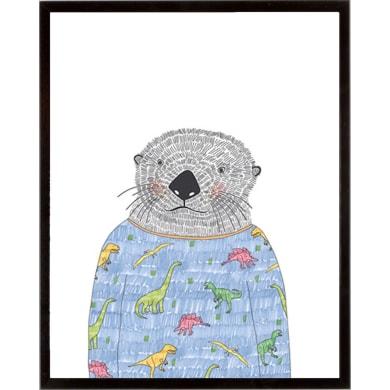 Stampa incorniciata Otter in a Sweater 42x52 cm