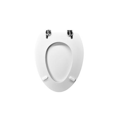 Copriwater ovale Dedicato per serie sanitari Spazio mdf bianco europeo