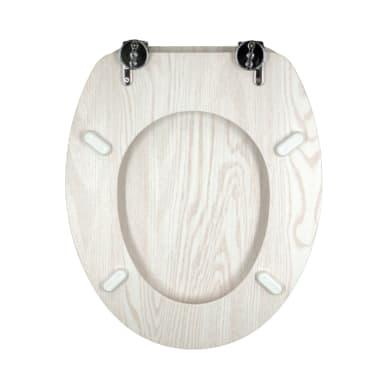 Copriwater ovale Universale Sbiancato mdf bianco