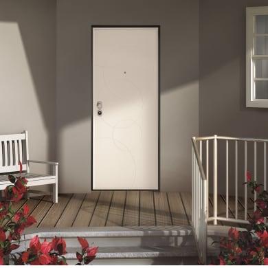 Porta blindata Taipan grigio L 90 x H 210 cm destra