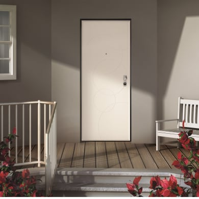 Porta blindata Taipan grigio L 80 x H 210 cm sinistra