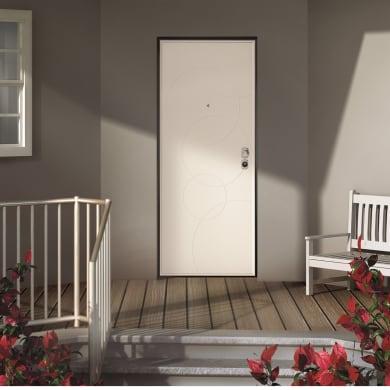 Porta blindata Taipan grigio L 90 x H 210 cm sinistra