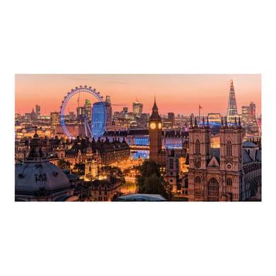 Quadro su tela Panorama su Londra 145x75 cm