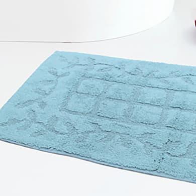 Set di tappetini rettangolare in cotone celeste 80 x 50 cm