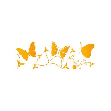 Stencil tema animali e personaggi LES DECORATIVES Farfalle 15.0 x 40.0 cm