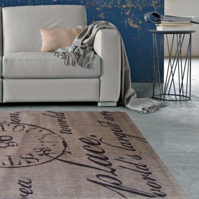 Tappeto Cottage poesia , beige e nero, 160x230 cm