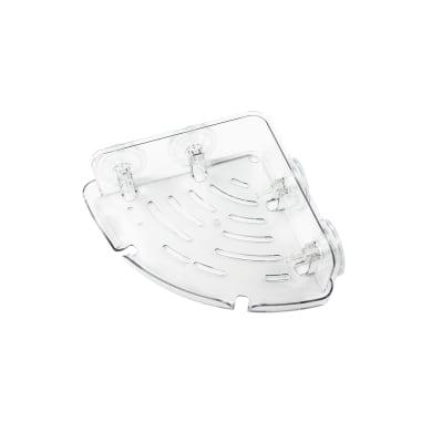 Mensola per bagno Air container angolare ventosa L 25 cm trasparente