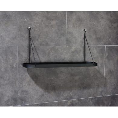 Mensola per bagno Neo L 50 cm nero