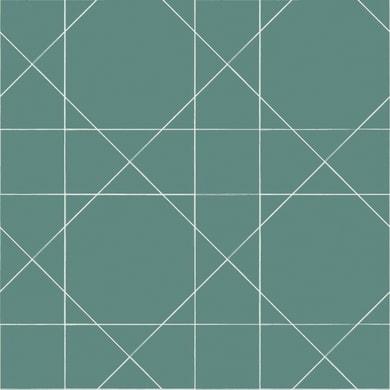 Carta da parati Linee verde mare, 53 cm x 10.05 m