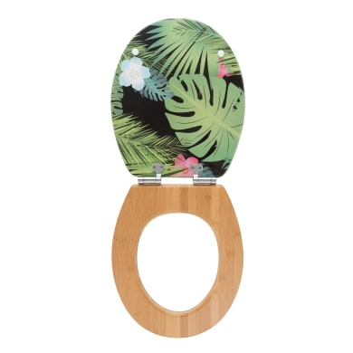 Copriwater ovale Universale Jungle WIRQUIN legno compresso laccato multicolore