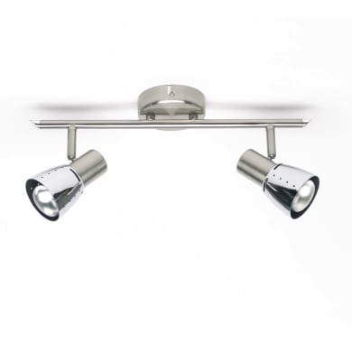 Barra di faretti Lava cromo, in metallo, E14 2x40W IP20 BRILLIANT