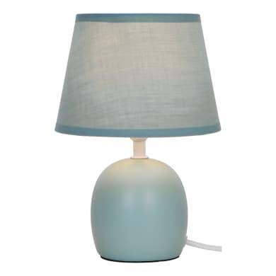 Lampada da tavolo Shabby Poki verde, in ceramica, INSPIRE