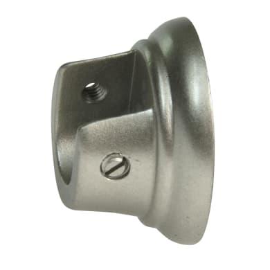 Supporto rosetta Ø13mm Jolly in metallo cromo satinato 3cm, 2 pz