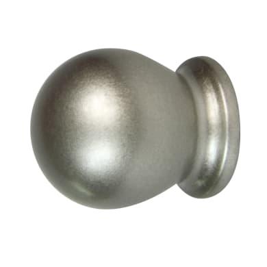 Finale per bastone Jolly sfera in metallo Ø13mm cromo satinato Set di 2 pezzi