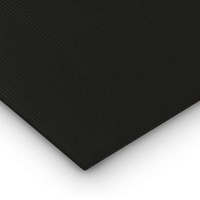 Lastra polionda polipropilene alveolare nero 50 cm x 100 cm, Sp 2 mm
