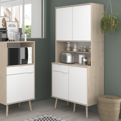 Armadio da cucina bianco L 80H 184 x P 43 cm