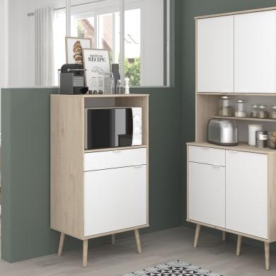 Armadio da cucina bianco L 60H 120 x P 43 cm