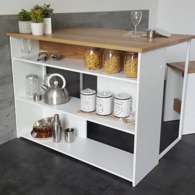 Armadio da cucina bianco L 120H 90 x P 81 cm