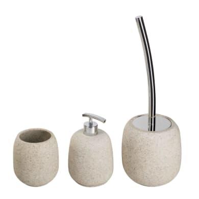 Set di accessori per bagno Afra sabbia in resina , 3 pezzi