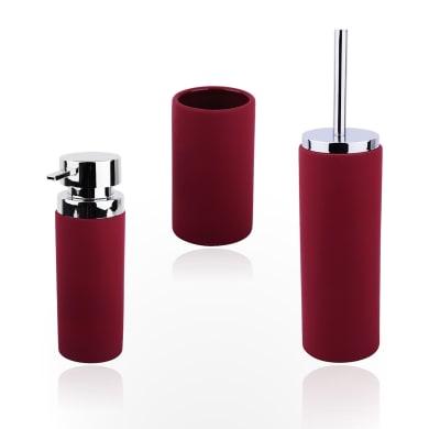 Set di accessori per bagno Barney rosso in resina , 3 pezzi