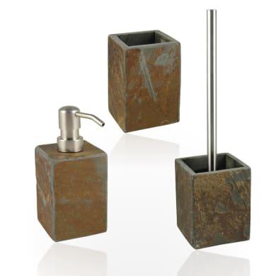 Set di accessori per bagno Heavy ruggine in pietra , 3 pezzi
