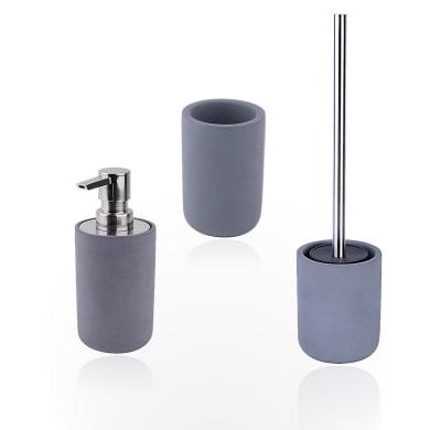Set di accessori per bagno Apollon grigio scuro in cemento , 3 pezzi