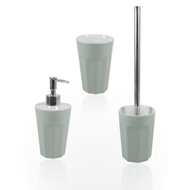 Set di accessori per bagno Charlotte verde acqua in ceramica , 3 pezzi