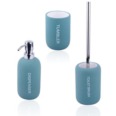 Set di accessori per bagno Remix blu laguna in ceramica , 3 pezzi