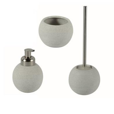Set di accessori per bagno Bubble sabbia in ceramica , 3 pezzi
