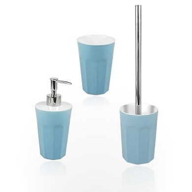 Set di accessori per bagno Charlot blu baltico in ceramica , 3 pezzi